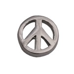 Peace Sign - Silver Charm